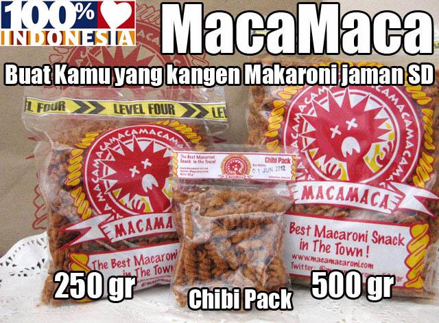Snack makaroni goreng pedas jadul MacaMaca